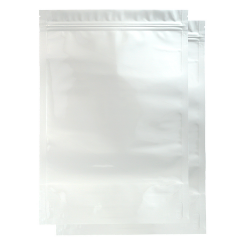 2 Ounce Mylar Barrier Bags White - 100 units - weed packaging and beyond
