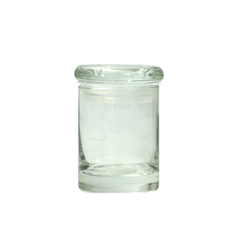 2 oz Glass Jars with Glass Suction Lids - 100 units - weed packaging and beyond