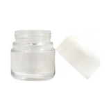 2 oz Premier Glass Jars Child Resistant White Cap - 100 units - weed packaging and beyond
