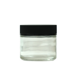 2 oz Glass Jars Child Resistant Black Cap - 100 units - weed packaging and beyond