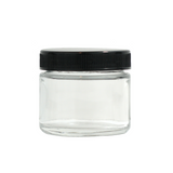 2 oz Glass Jars with Black Cap - 240 units - weed packaging and beyond