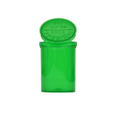 30 Dram Pop Top Bottles Child Resistant Translucent Green - 150 units - weed packaging and beyond