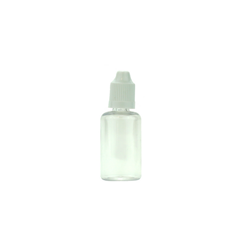 30 ml Plastic Dropper Bottles Child Resistant Clear - 100 units - weed packaging and beyond