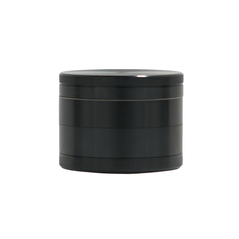 "3"" Metal Grinder Black 4 Parts with Scraper - weed packaging and beyond"