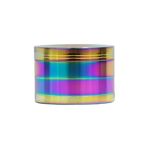 "2 1/2"" Metal Grinder Rainbow 4 Parts with Scraper - weed packaging and beyond"