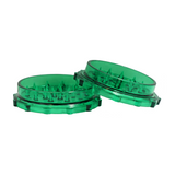 "3"" Plastic  Grinder 2 Parts Green - weed packaging and beyond"