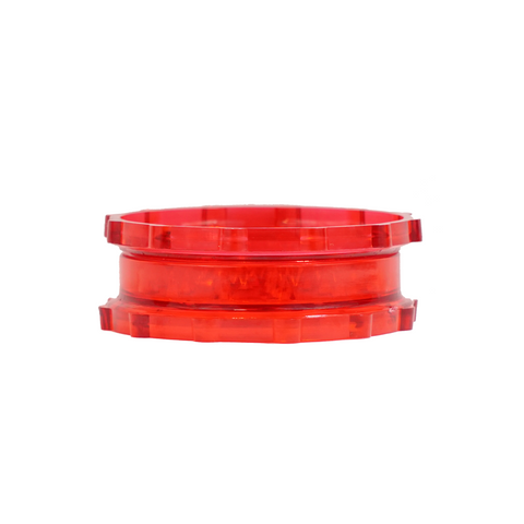 "3"" Plastic  Grinder 2 Parts Red - weed packaging and beyond"