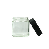 3 oz Glass Jars Child Resistant Black Cap - 100 units - weed packaging and beyond