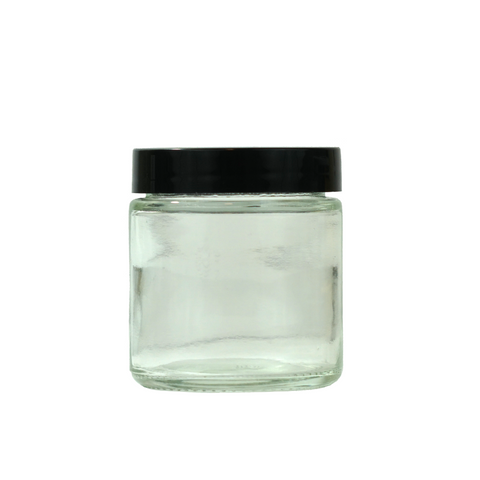 3 oz Glass Jars with Black Cap - 100 units - weed packaging and beyond