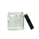3 oz Glass Jars with Black Cap - 150 units - weed packaging and beyond