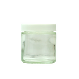 3 oz Glass Jars with White Cap - 150 units - weed packaging and beyond