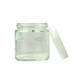 3 oz Glass Jars with White Cap - 100 units - weed packaging and beyond