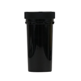 40 Dram Reversible Cap Vials Child Resistant Black - 150 units - weed packaging and beyond