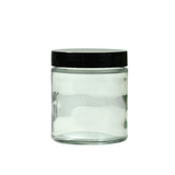 4 oz Glass Jars with Black Cap - 100 units - weed packaging and beyond