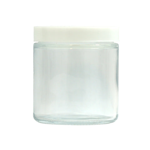 5 oz Glass Jars with White Cap - 100 units - weed packaging and beyond