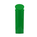 60 Dram Pop Top Bottles Child Resistant Green - 75 units - weed packaging and beyond