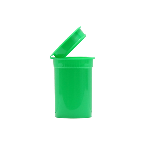 6 Dram Pop Top Bottles Child Resistant Green - 720 units - weed packaging and beyond