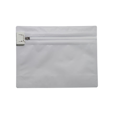 Child Resistant Exit Bags Medium White - 100 units - weed packaging and beyond