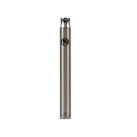 Dial Variable Voltage 320 mAh Metal Vaporizer Battery Silver - 100 units - weed packaging and beyond