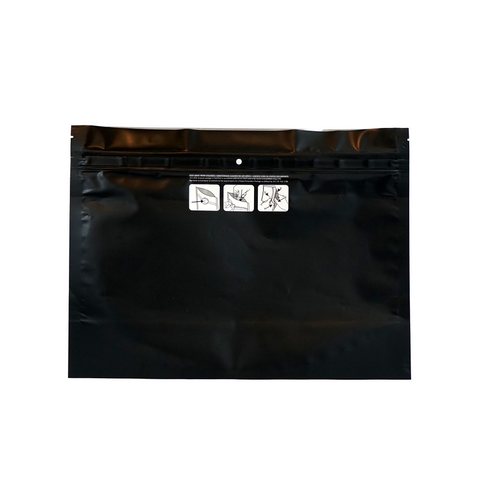 Dymapak Child Resistant Exit Bags Large Black - 100 units - weed packaging and beyond