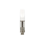 .5 ml Ceramic Mouth Piece Glass Cartridge White - 100 units - weed packaging and beyond