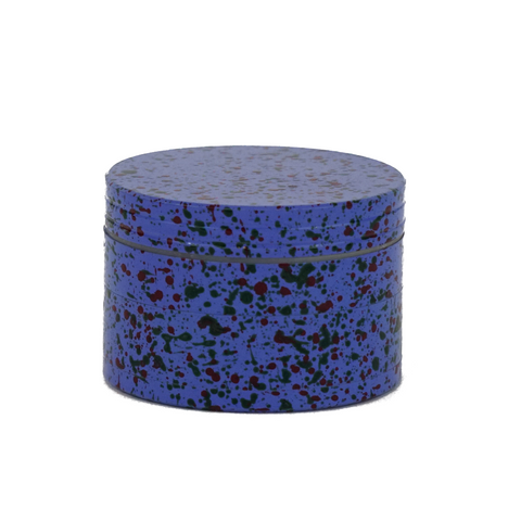 Metal Grinder Blue 4 Parts Splatter Design 56 mm - weed packaging and beyond