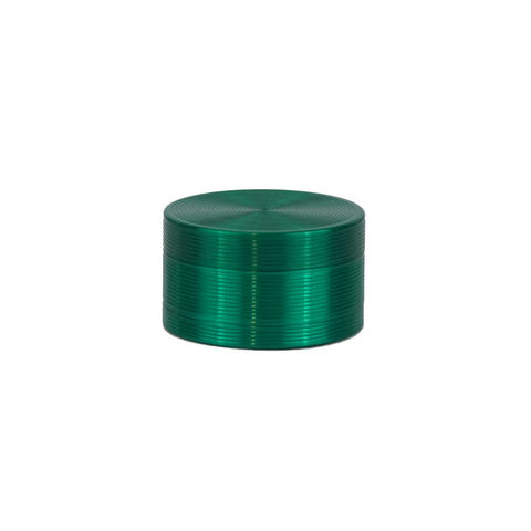 Metal Grinder Green 3 Parts with Scraper 50 mm - weed packaging and beyond