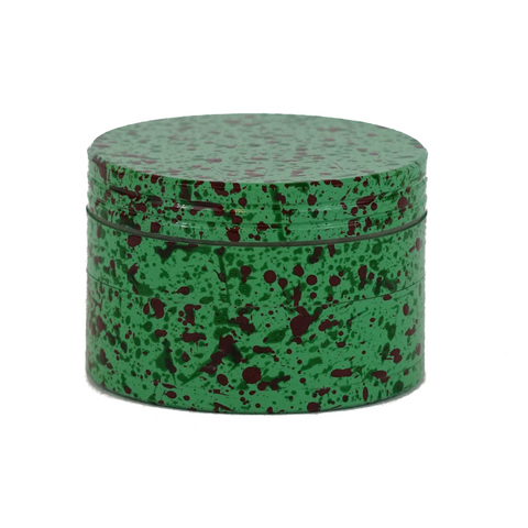 Metal Grinder Green 4 Parts Splatter Design 56 mm - weed packaging and beyond