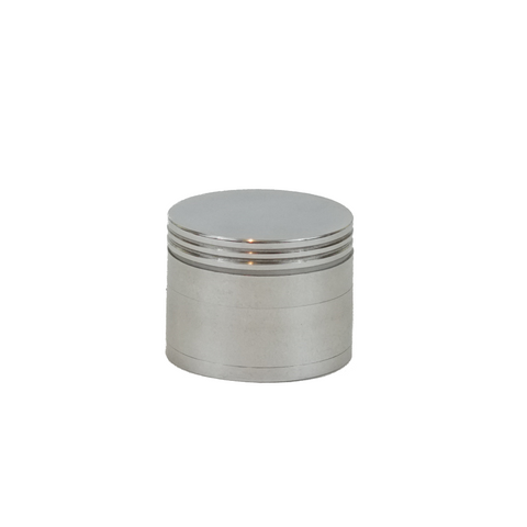 Metal Grinder Silver 4 Parts 42 mm - weed packaging and beyond