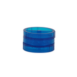Plastic Grinder Blue 2 Parts 45 mm - weed packaging and beyond