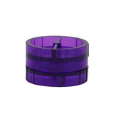 Plastic Grinder Purple 2 Parts 45 mm - weed packaging and beyond