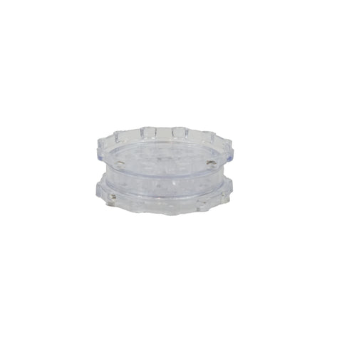"Plastic Magnetic Grinder Clear 2 Parts 3"" - weed packaging and beyond"
