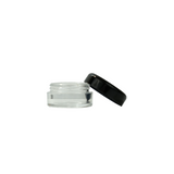 Polystyrene Concentrate Containers 5 ml Black - 100 units - weed packaging and beyond