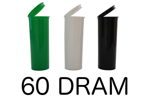 60 Dram Pop Top Bottles Child Resistant - 75 units - weed packaging and beyond