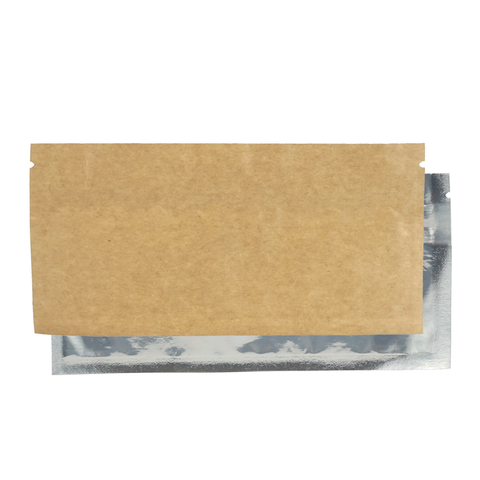 Pre-roll barrier bag kraft clear both sides overlap