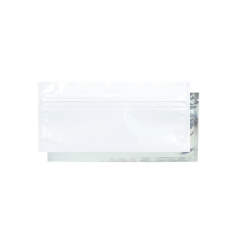 Pre-Roll Mylar Barrier Bags White/Clear - 100 units - weed packaging and beyond