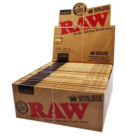 Raw Rolling Papers King Size Supreme - 24 units - weed packaging and beyond
