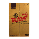 RAW Pre-Rolled Cones Classic 98 Special 98 mm - 1400 units - weed packaging and beyond