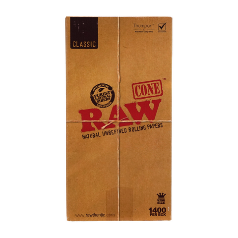 RAW Pre-Rolled Cones Classic King Size 109 mm - 1400 units