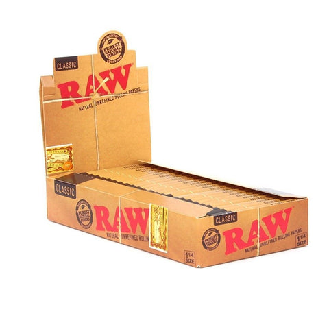 "Raw Rolling Papers Classic 1 1/4"" - 24 units - weed packaging and beyond"
