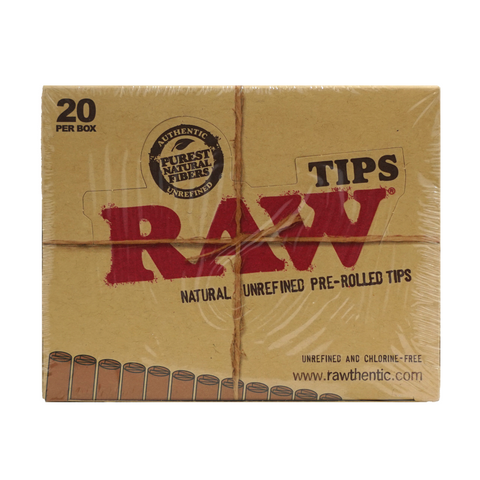 Raw Rolling Tips Natural - 20 units - weed packaging and beyond