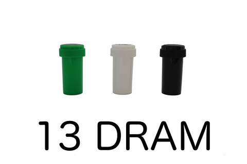 13 Dram Reversible Cap Vials Child Resistant - 275 units - weed packaging and beyond