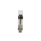 .5 ml Glass Round Mouth Piece Glass Cartridge - 100 units - weed packaging and beyond