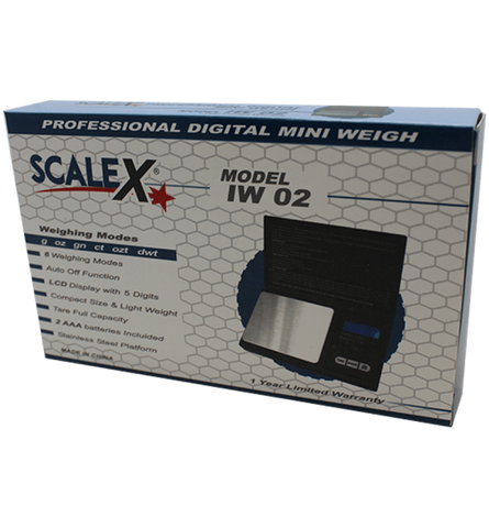 ScaleX IW04 100 g x 0.01 g Scale - weed packaging and beyond