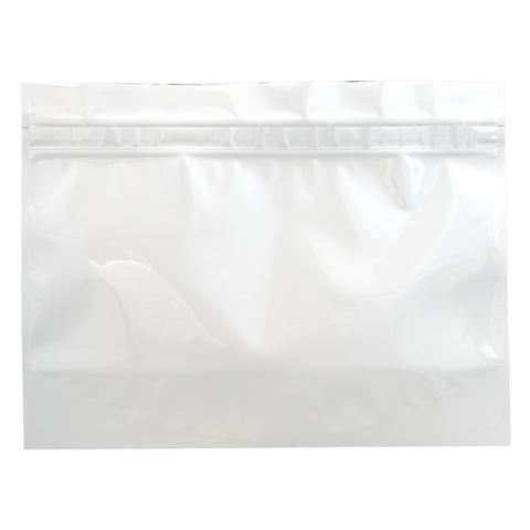 WPAB Barrier Bags Child Resistant Large White - 100 units - weed packaging and beyond