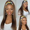 Mix Color Highlights Affordable Headband Wig (Get Free Trendy Headband)