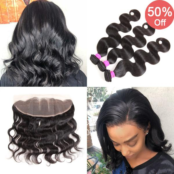 Pre Plucked Lace Frontal With 3bundles Best Virgin Hair Weave