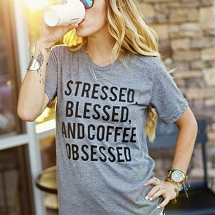 Gray Coffee Statement Tee