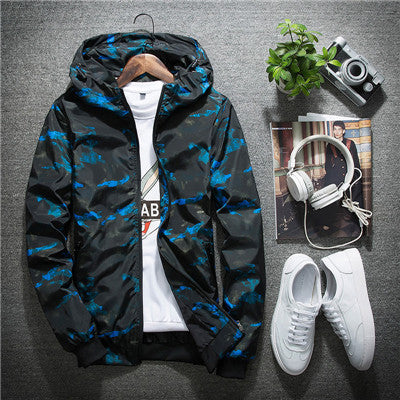 Camo Waterproof Windbreaker