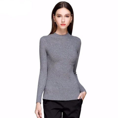 Sexy Knitted Slim Pullover